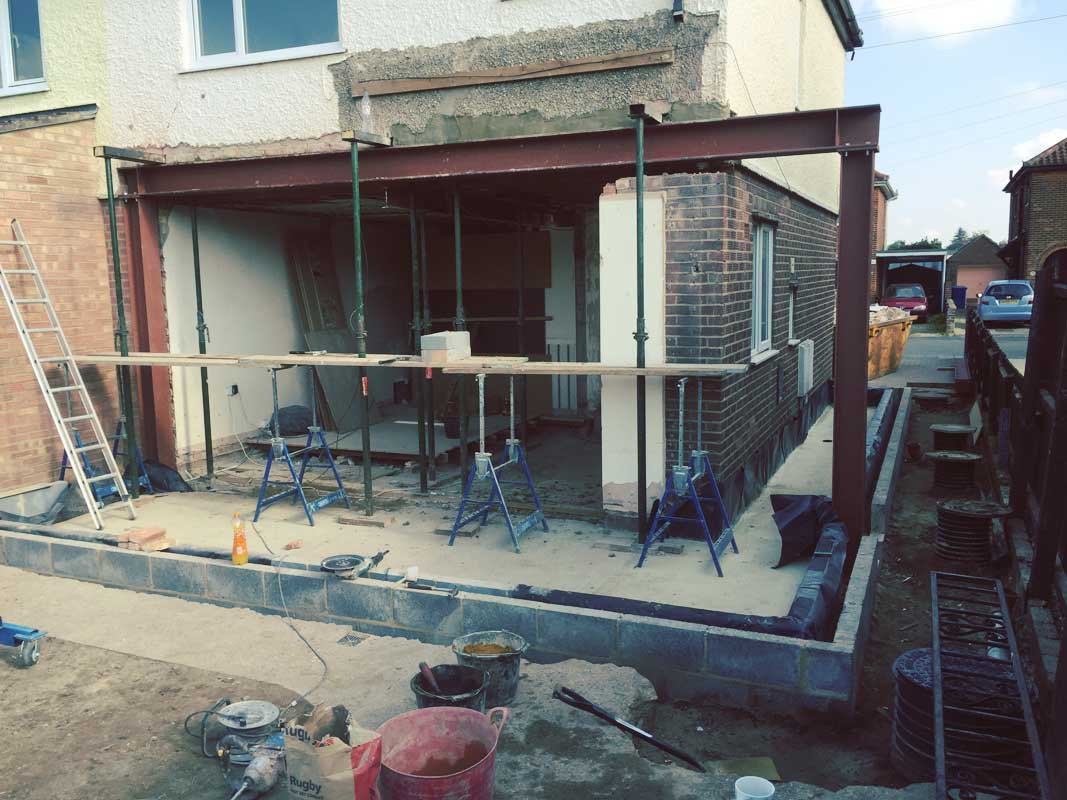 Side And Back Extensions And Refurbish Three Bedroom House